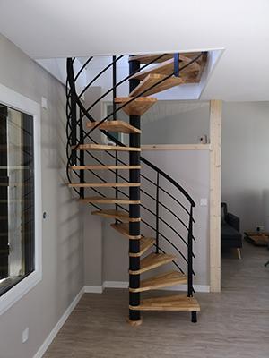 Escalier en colimaçon Vendée -ABEG