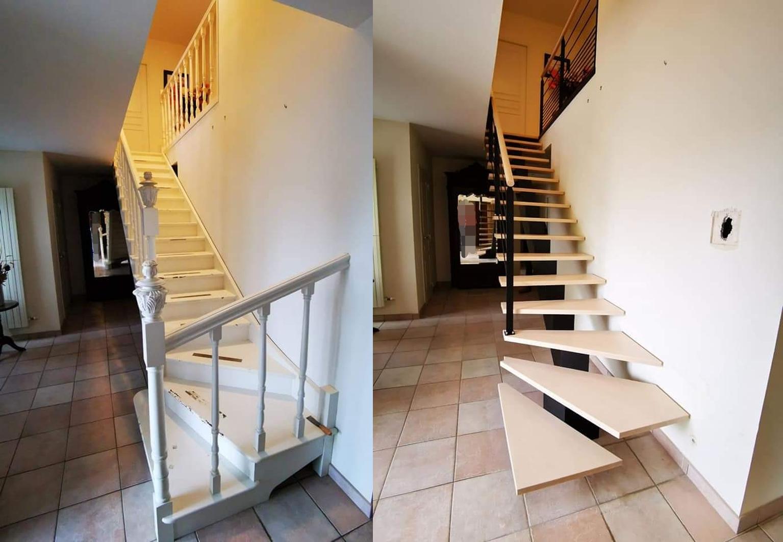 Installation escalier la Roche sur Yon - ABEG