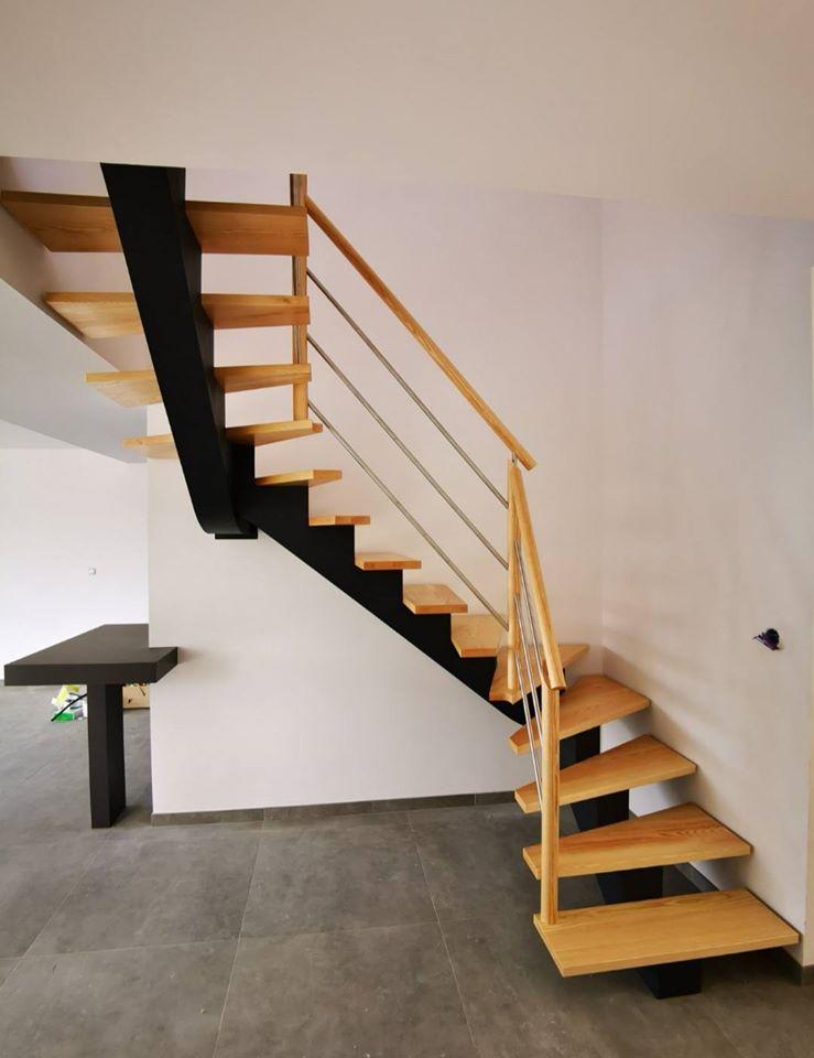 Escalier bois inox - ABEG