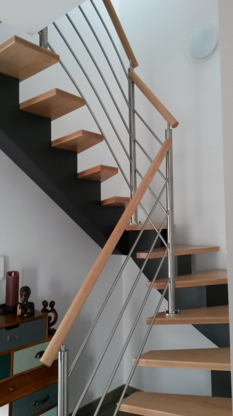 Escalier bois et métal Vendée - ABEG